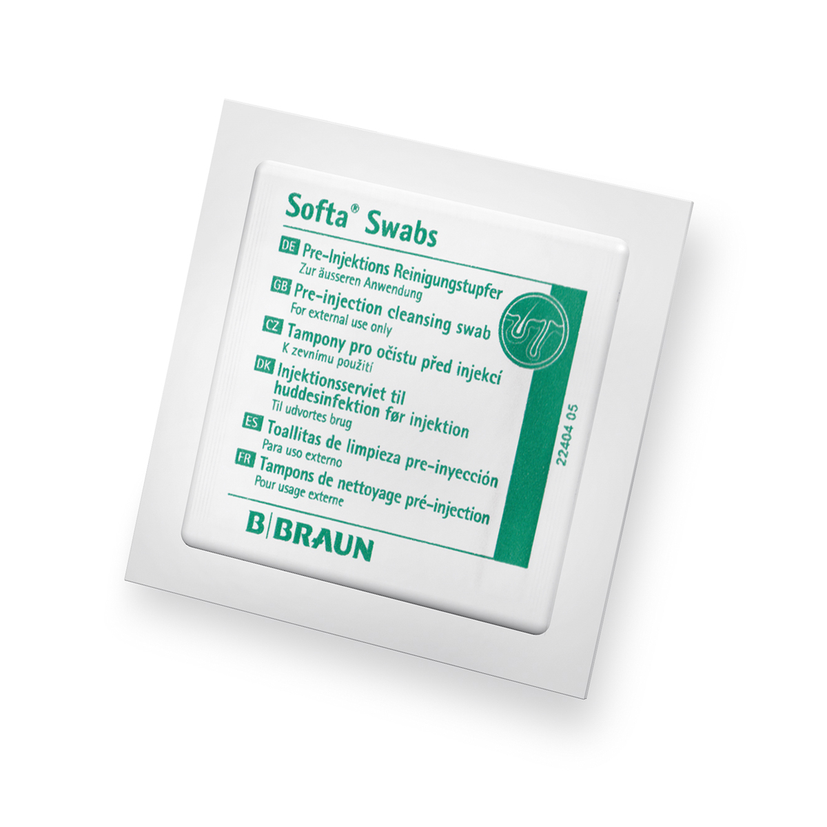 BBraun pre-injection alcohol swabs