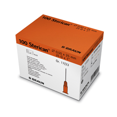 Orange 25 gauge 25mm (1 inch) needle