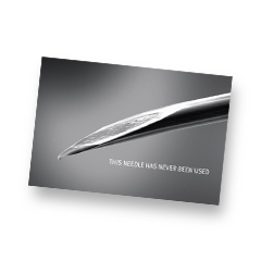 sharp needle - blunt needle card