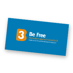 B3 Be Free campaign: hep B vaccination card