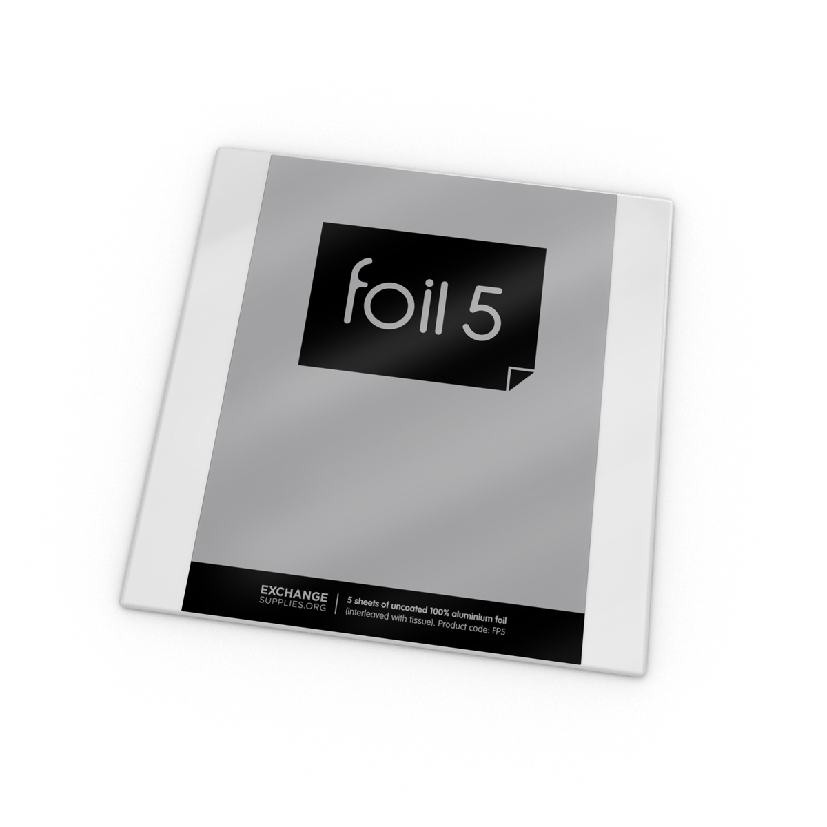 Foil: pack of 5 sheets (out of stock)