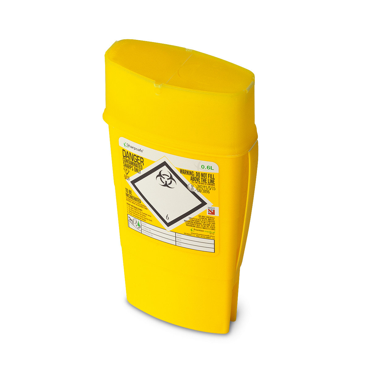 Frontier 0.6 litre sharpsafe (yellow)