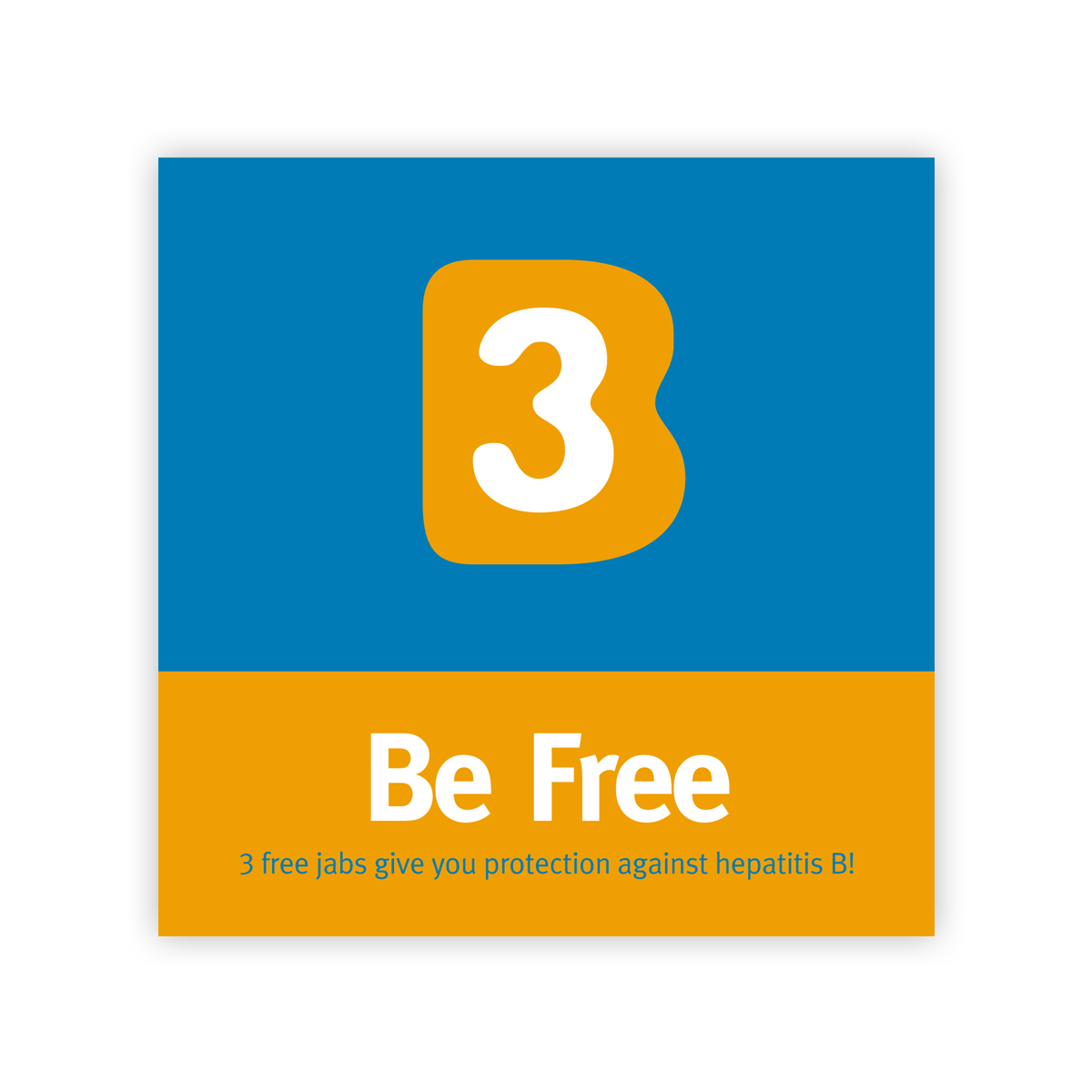 'B3 Be Free' campaign: Hep B vaccination leaflet