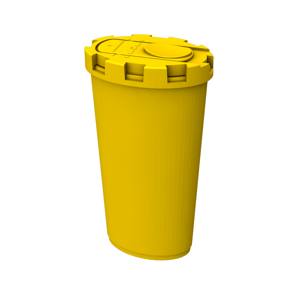 NEW COMPACT SHARPS BIN (YELLOW)