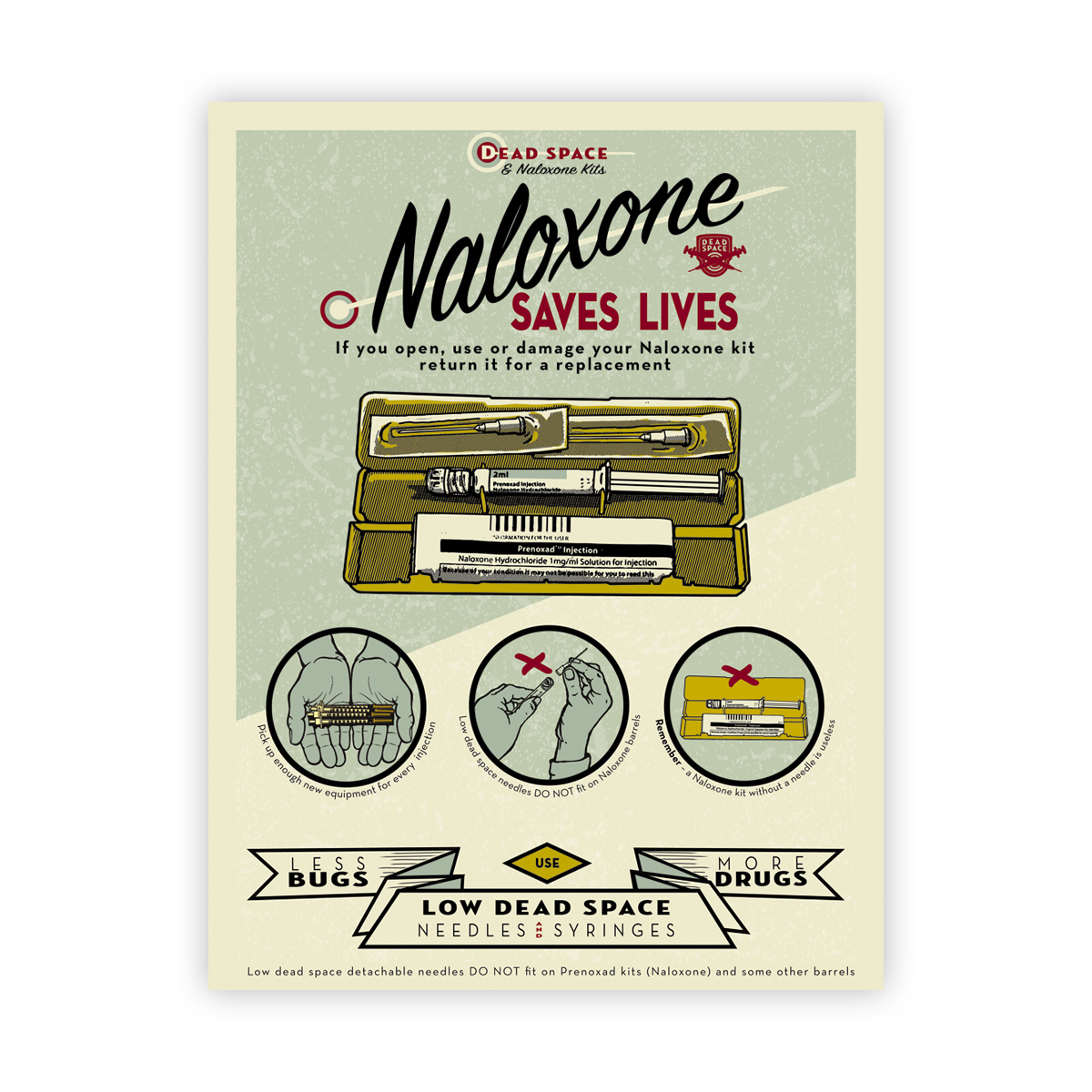 Naloxone saves lives poster