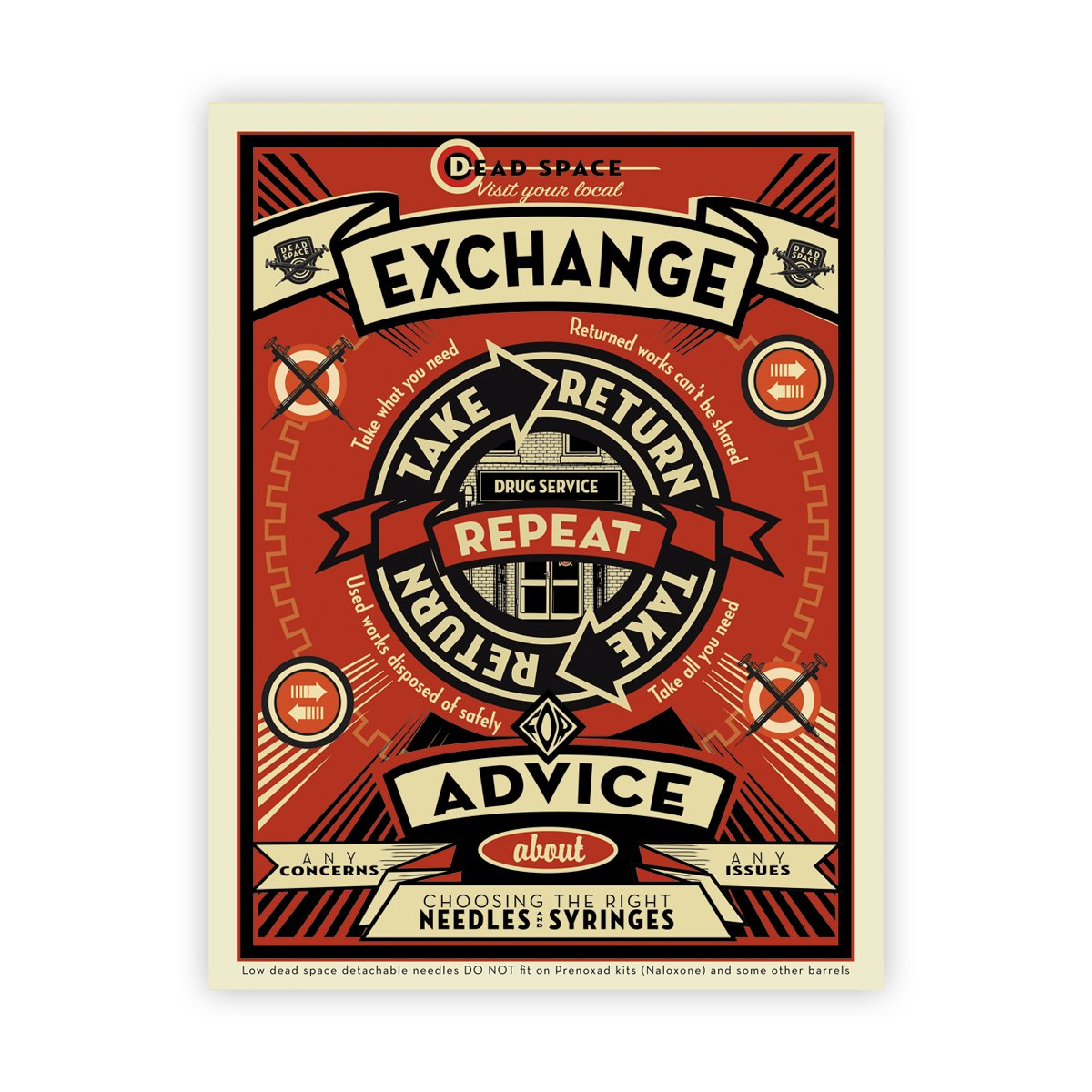 Exchange Advice 'Take, Return, Repeat' poster